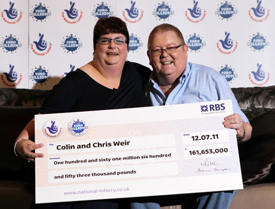 Colin and Chris Weir, Euromillions winners