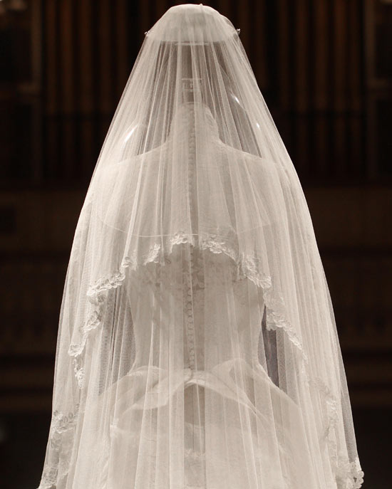 The Duchess of Cambridge's wedding dress - back
