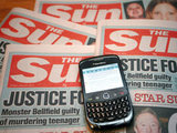 Copies of 'The Sun' newspaper