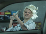 Lola smashed the window to Phil's jag not realising Jay is under the car.