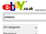 eBay search for children