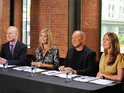 Project Runway's judges eliminate another designer from the show.