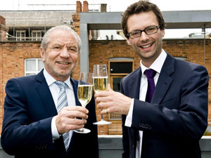 Alan Sugar and Tom Pellegreau from The Apprentice