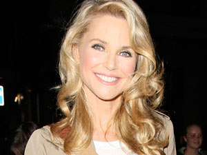 Christie Brinkley leaving the Cambridge Theatre, London after her performance in 'Chicago'.