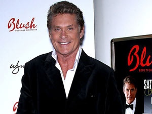 David Hasselhoff celebrates his birthday at Blush Boutique Nightclub, Las Vegas.