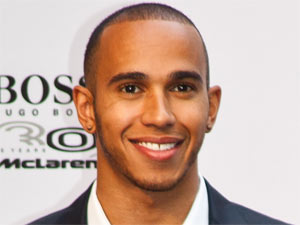 Lewis Hamilton attends the German celebrations for 30 years of cooperation between McLaren and Hugo Boss