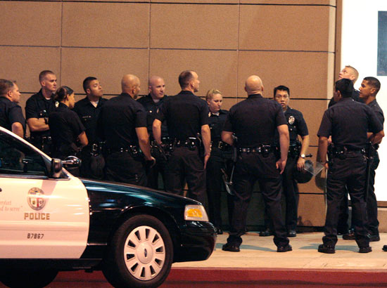 Police at the Electric Daisy Carnival Experience premiere