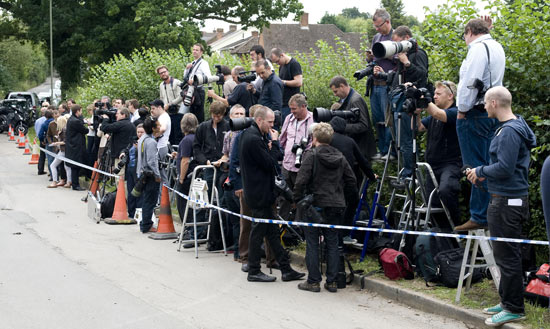 Photographers at Amy Winehouse's funeral
