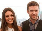 'Friends with Benefits' stars Mila Kunis and Justin Timberlake at the Russian premiere of the movie