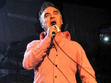 Morrissey performing to a sell-out crowd at Vicar Street, Ireland.
