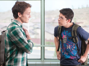 Anton Yelchin and Christopher Mintz-Plasse in 'Fright Night'