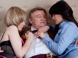 Dominic McElligott, Brendan Gleeson and Sarah Greene in &#39;The Guard&#39;