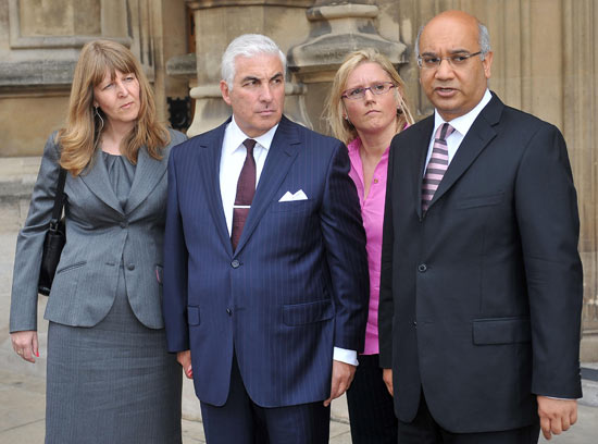 Mitch Winehouse and MP Keith Vaz