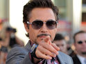 Robert Downey Jr says his wife has forbidden him from talking about his unborn baby.