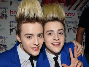 Jedward launch their album Victory' at HMV, Dublin.