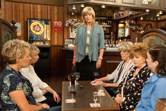 Audrey is stunned when Marcia arrives in the Rovers