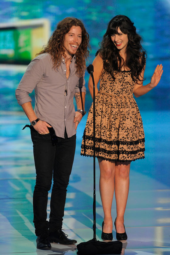 Shaun White and Zooey Deschanel