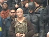 Batman and Bane filming for The Dark Knight Rises
