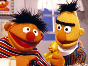 Bert and Ernie on 'Sesame Street'