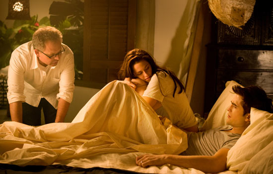 Director Bill Condon, Kristen Stewart and Robert Pattinson