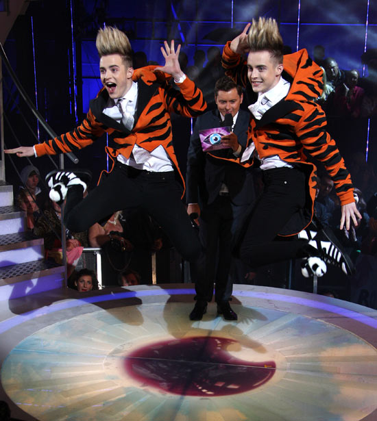 John, Edward and we're guessing a case of hair gel, arrive at the Big Brother house.