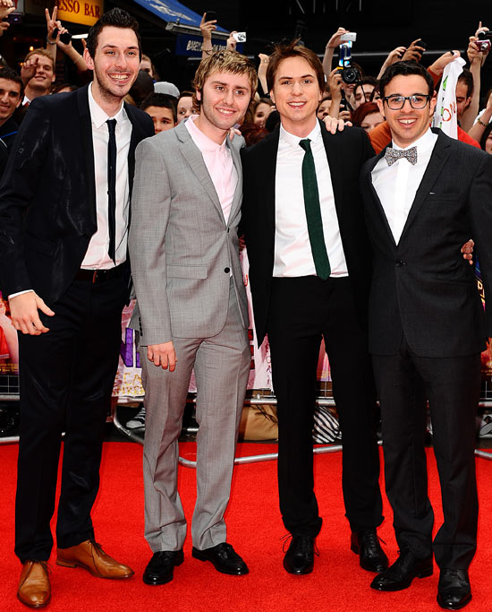 Blake Harrison, James Buckley, Joe Thomas and Simon Bird
