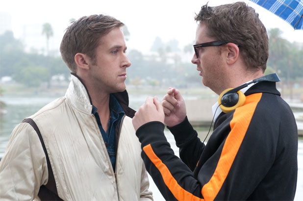 Still of Ryan Gosling and Nicolas Winding Refn in Drive