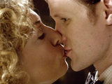 The Doctor and River Song kiss in Doctor Who S06E08