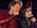 Glee star Lea Michele performs with Jon Bon Jovi in the upcoming romantic comedy.
