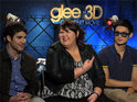 The Glee trio discuss starring in the 3D concert movie.