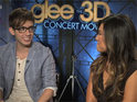 The Glee stars chat about starring in their first 3D concert movie.