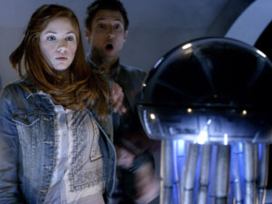 Amy and Rory meet the antibodies in Doctor Who S06E08