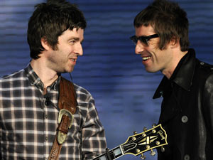 Noel Gallagher and Liam Gallagher