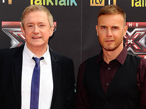 Louis Walsh and Gary Barlow at The X Factor 2011 launch