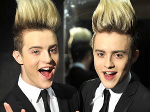 X Factor duo John and Edward. Together they are Jedward.