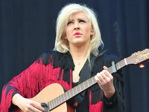 Ellie Goulding performs a set at Weston Park, Staffordshire