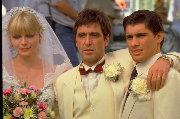 Michelle Pfeiffer, Al Pacino and Steven Bauer