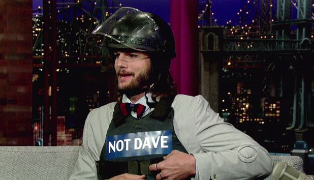 Ashton Kutcher on Letterman