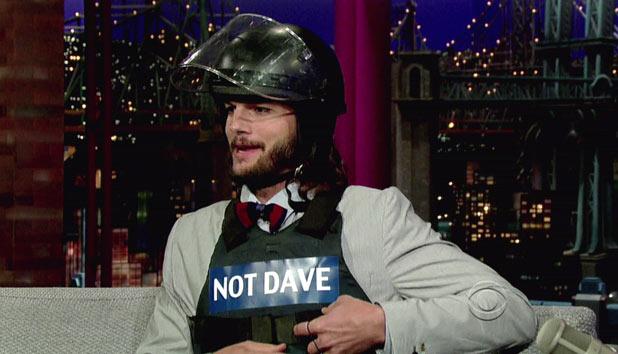 Ashton Kutcher on Letterman