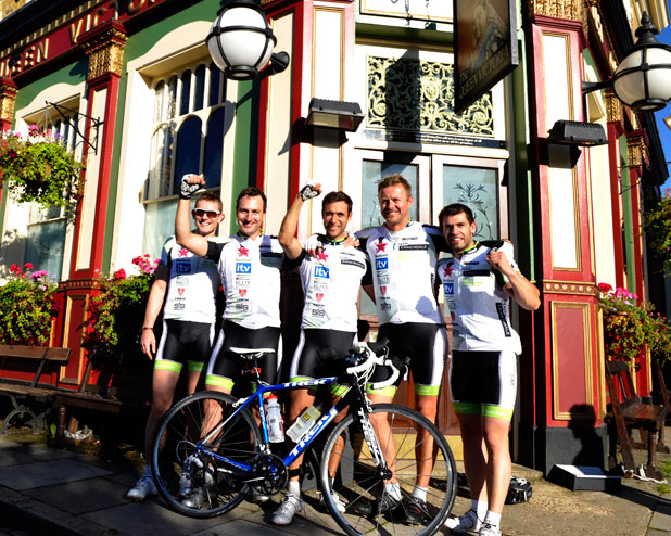 The cast of Emmerdale after their recent cycle challenge
