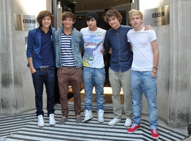 One Direction outside the BBC Radio 2 Studios