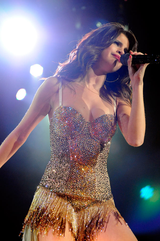 Selena Gomez performs at the Molson Canadian Amphitheatre in Toronto