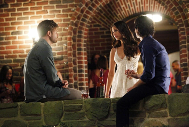 Alaric, Elena and Damon