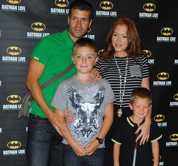 Natasha Hamilton and family arrive at the Batman Live Launch