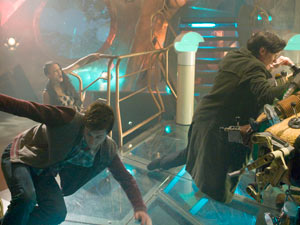 The Tardis is attacked in Doctor Who S06E08