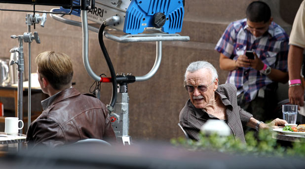 Steve Rogers and Stan Lee