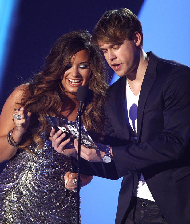 Demi Lovato and Chord Overstreet