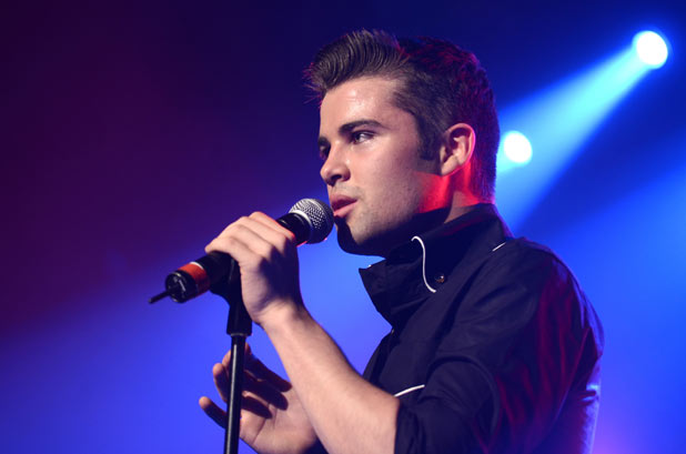 Joe McElderry performing live at G-A-Y London