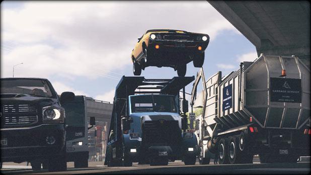 Ramp truck jump