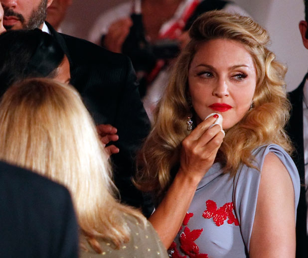 Madonna has make-up retouched